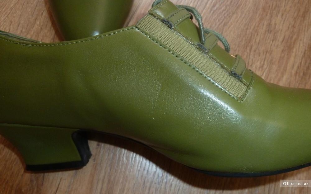 Туфли олива LANICE 39 размер маломерки