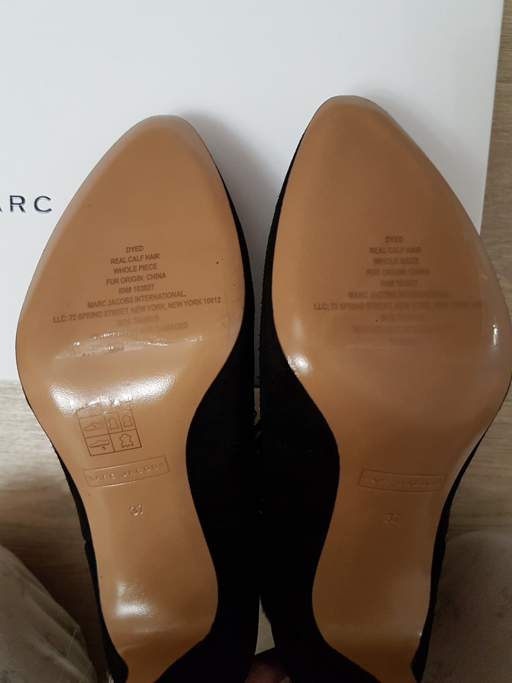 Замшевые сапожки Marc Jacobs с леопардовым принтом, размер 37