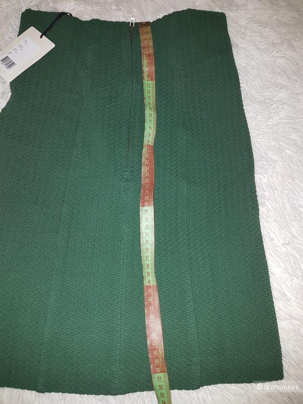 Облегающая юбка,  Ganni, зеленая, р. M, 46 р.