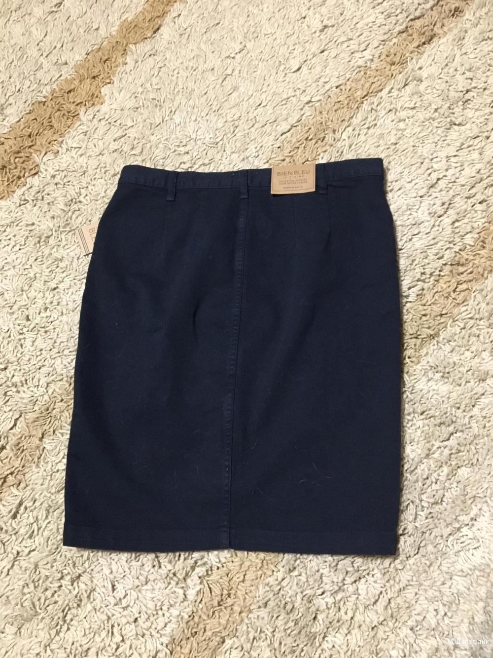 Джинсовая юбка-карандаш р.48