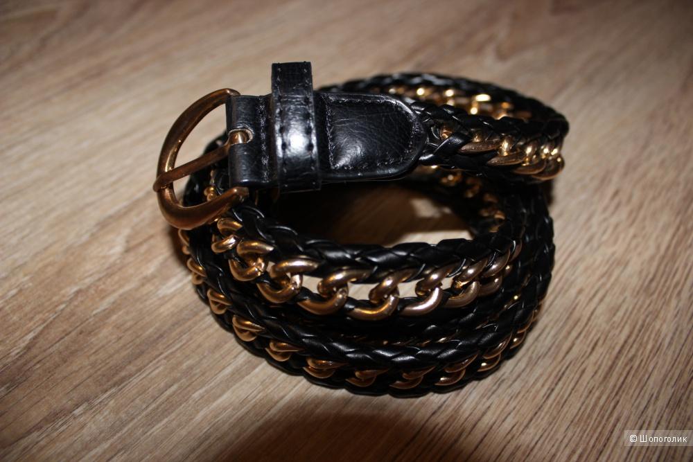 Ремень noname, черный+золото, размер one