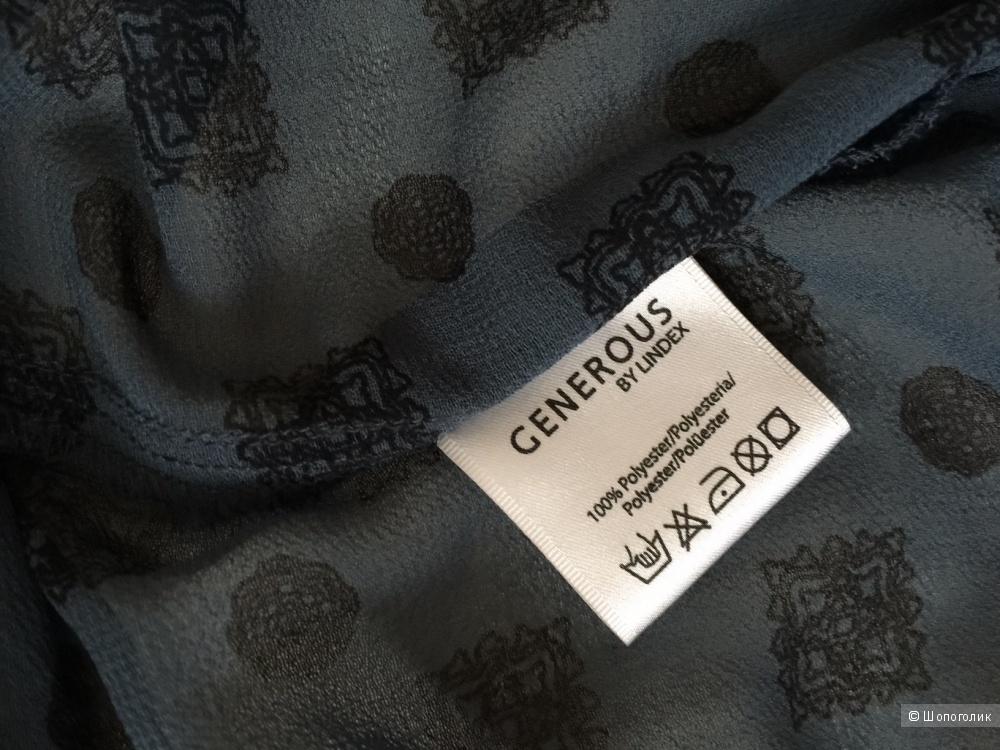Блузка расшитая бисером марка  GENEROUS размер 52