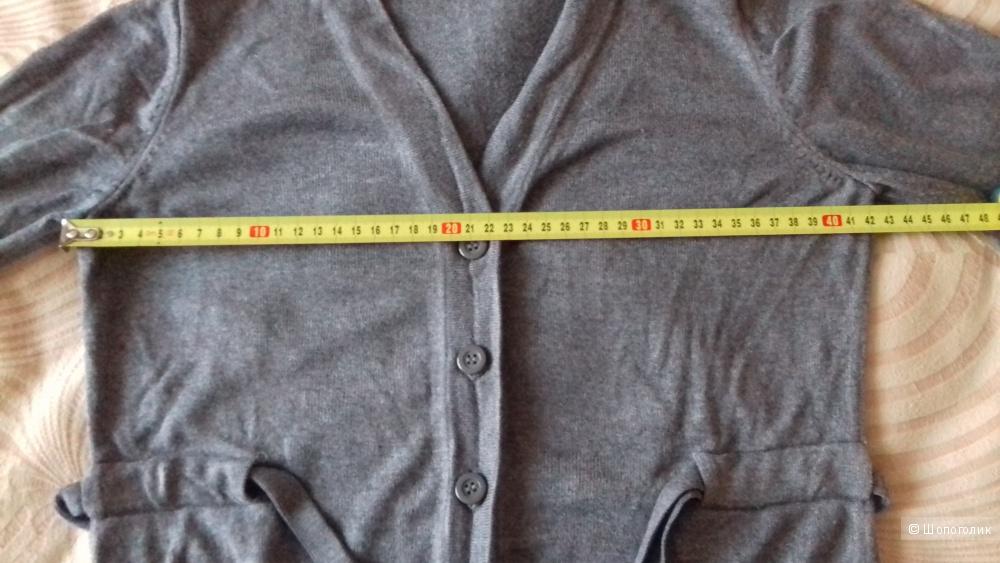 Кардиган oodji размер 42, цвет серый