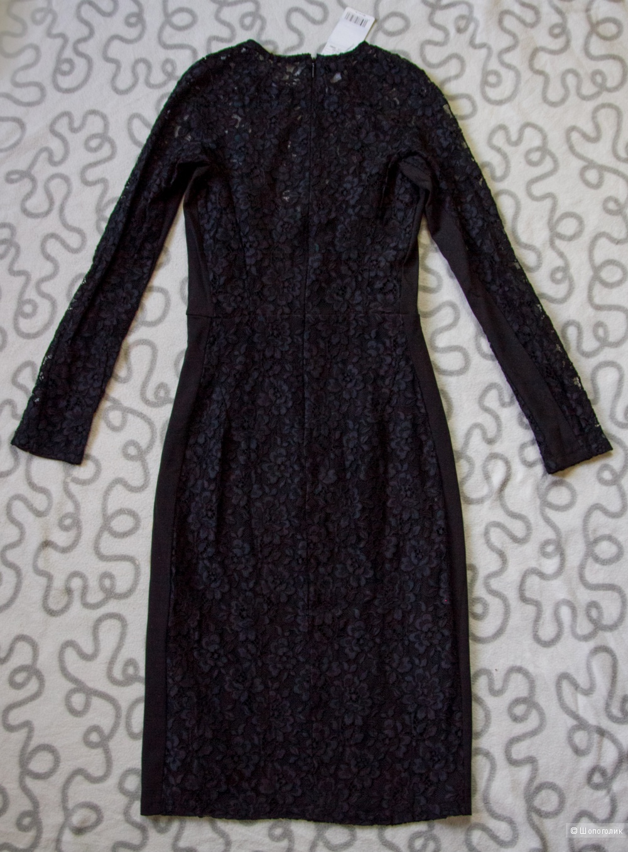 Черное кружевное платье Mango, размер XS