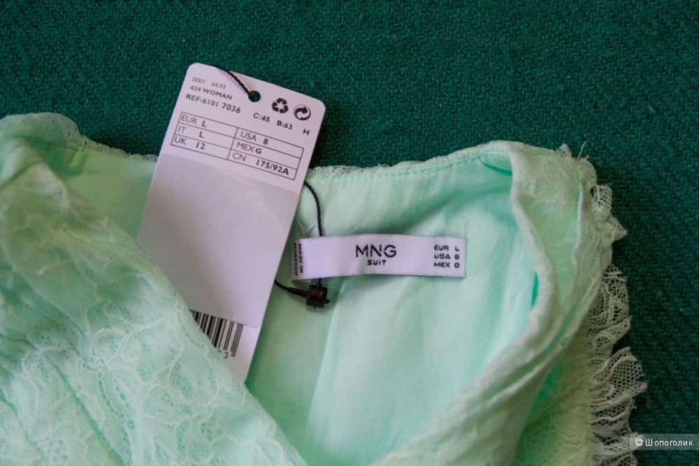 Нежно-бирюзовое платье Mango,  размер L
