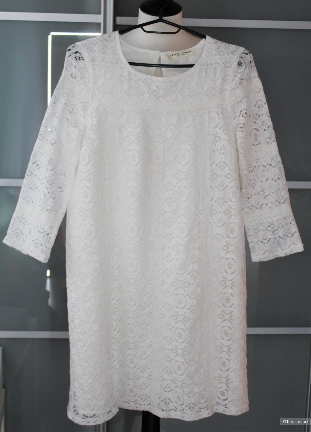 Кружевное хлопковое платье S