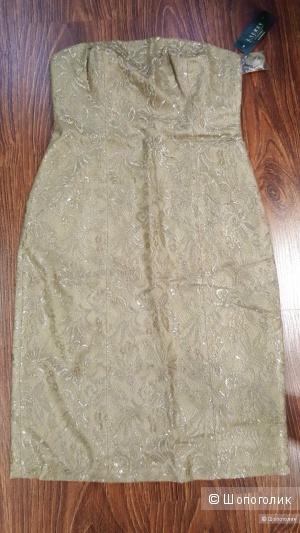 Ralph Lauren платье из золотого кружева Новое Оригинал р.48
