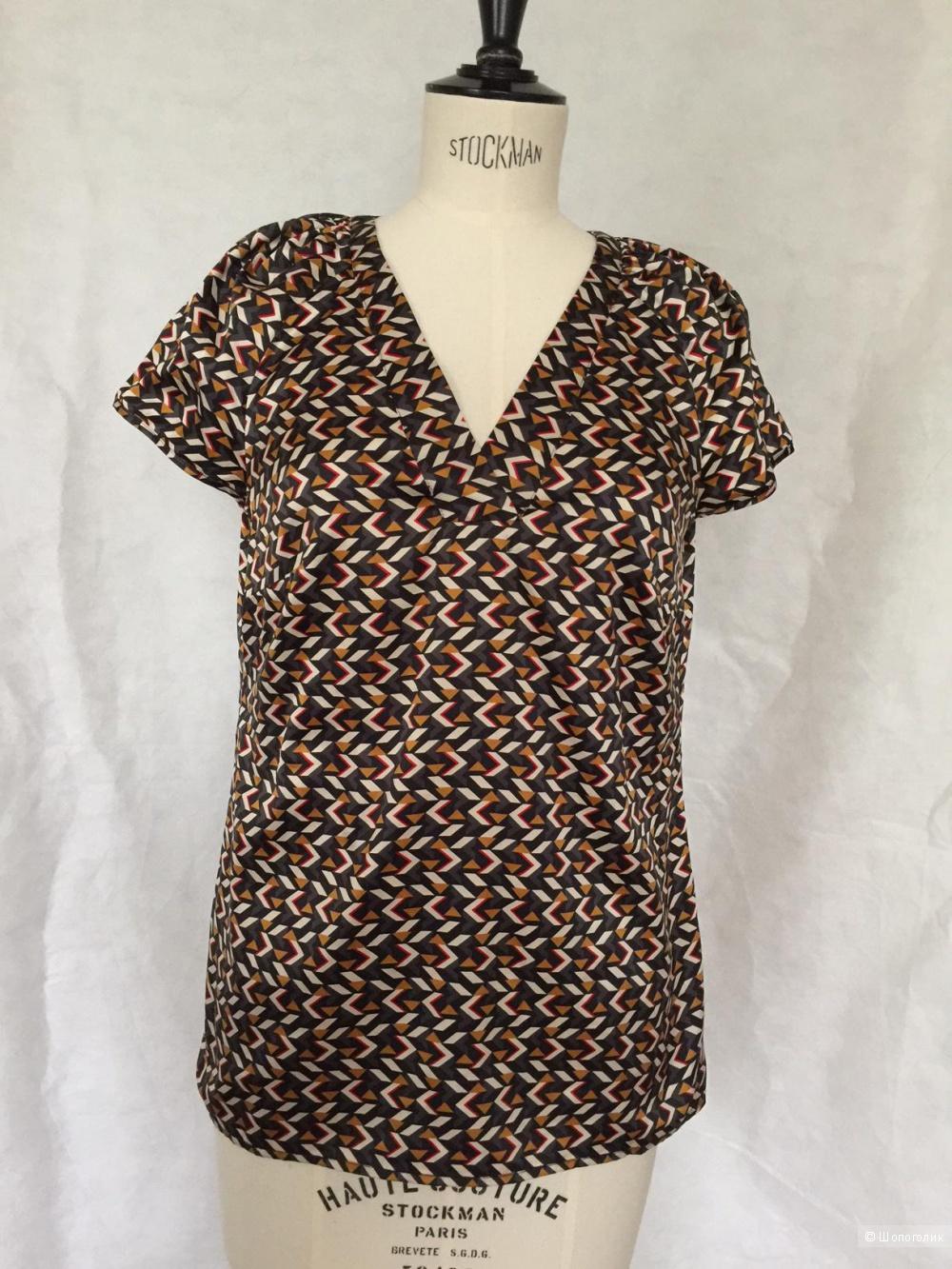 Блузка  цветная с принтом марка ESPRIT размер 44