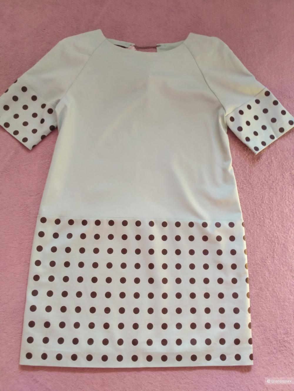 Летнее платье Favorini размер 48 цвет голубой
