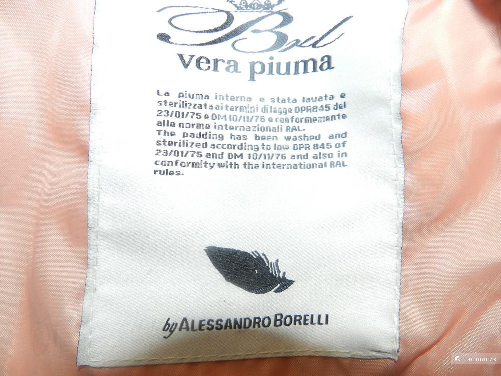 Пуховик на подростка или на стройную девушку новый 164 рост Borelli Италия