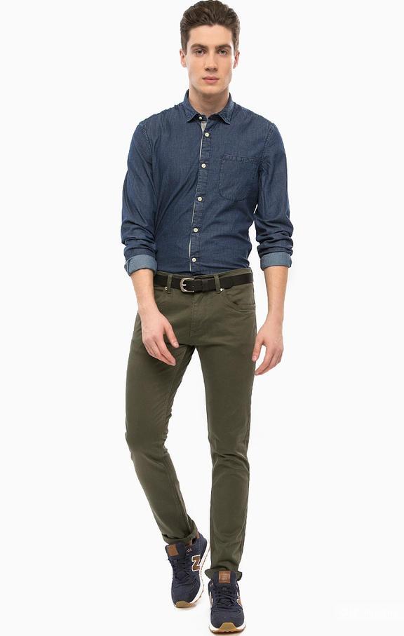Зауженные брюки цвета хаки, Alcott,48 размер