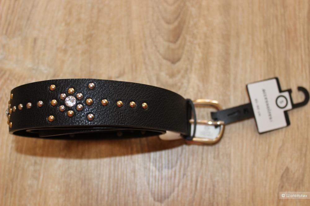 Новый ремень C&A accessories, черный с клепками, размер 85-90