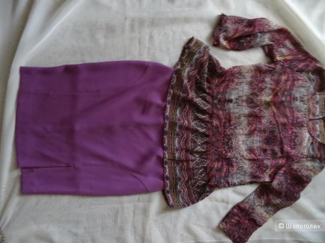Блузка с баской, размер 42-44, б/у