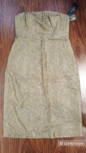 Ralph Lauren платье из золотого кружева Новое Оригинал р.42