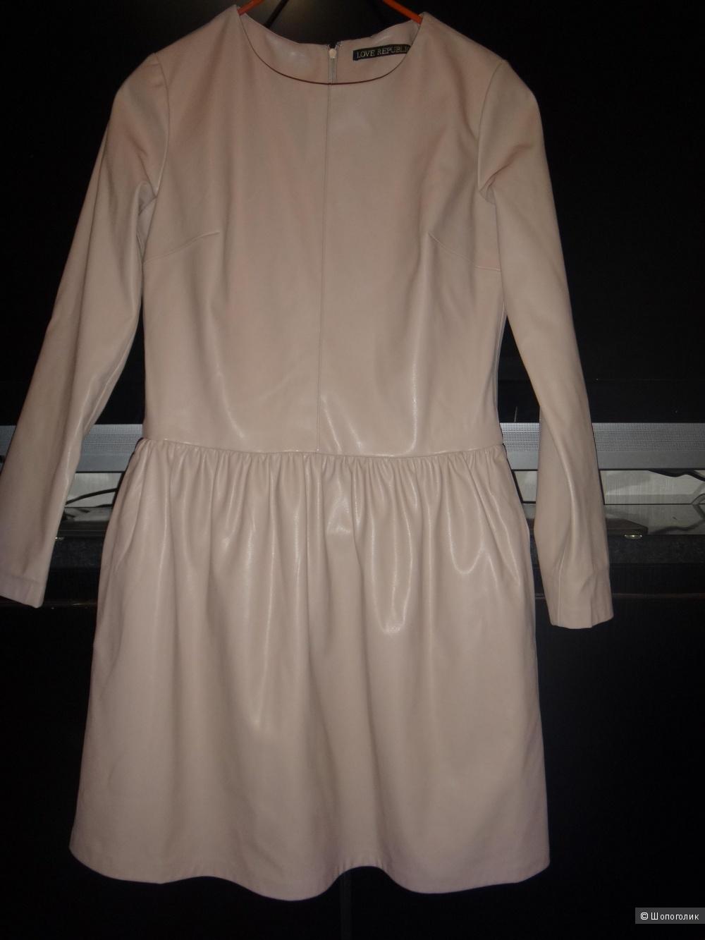 Платье 44-46 размер кожзам LOVE REPUBLIC