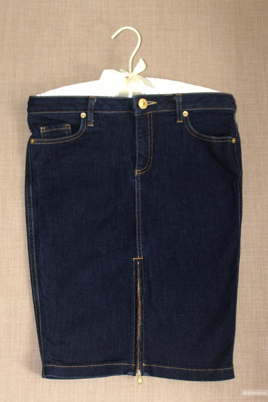 Джинсовая юбка карандаш River Island, размер 8  UK