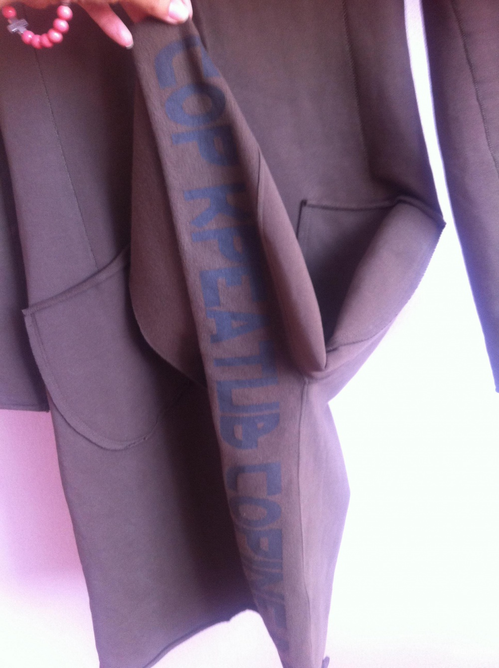 Стильное концептуальное пальто Cop Copine, S