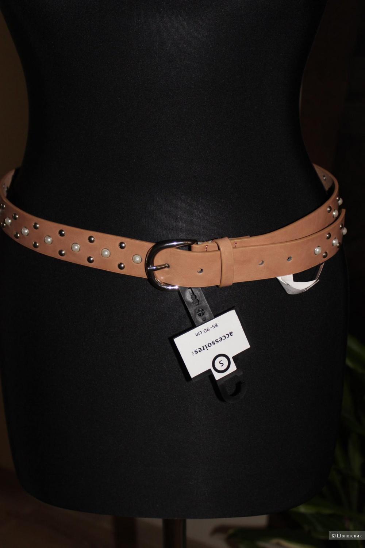 Новый ремень C&A accessories, цвет беж, размер 85-90