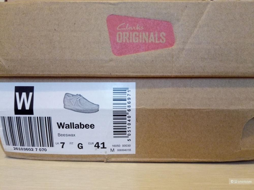 Ботинки Clarks Originals Wallabee Beeswax, 7UK