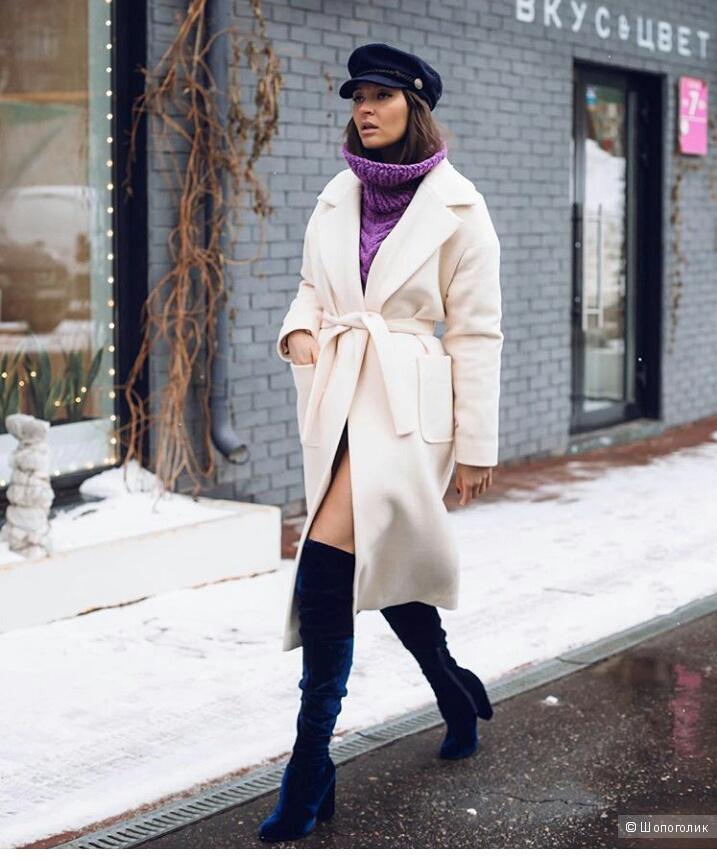 Пальто- халат, Marie By Marie, оверсайз.