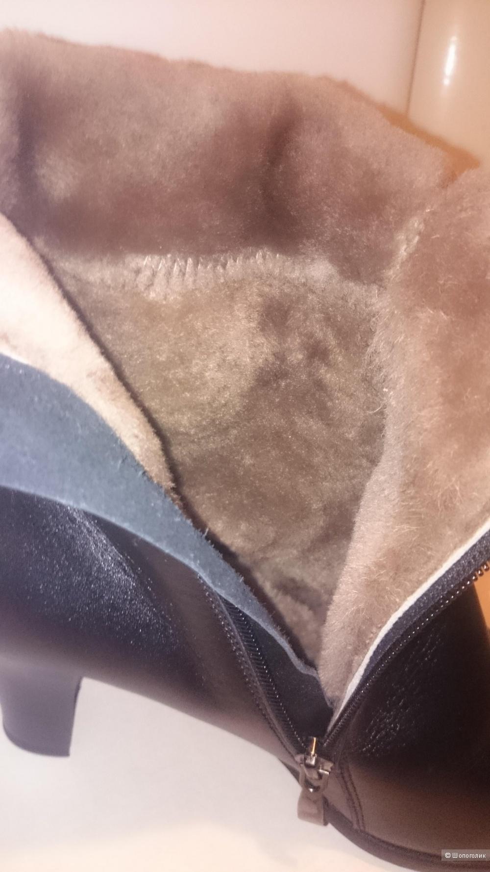 Зимние кожаные сапоги, 39 р-р