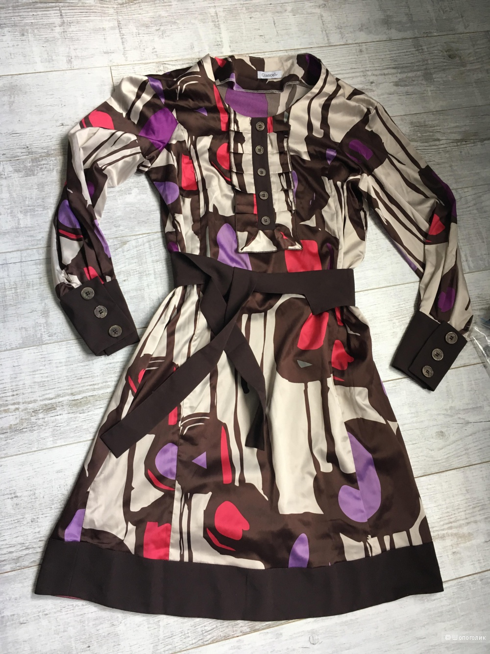Новое атласное платье Glance, 44 размер