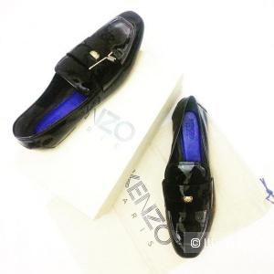 Женские новые кожаные лаковые лоферы Kenzo, 41 р-р, оригинал