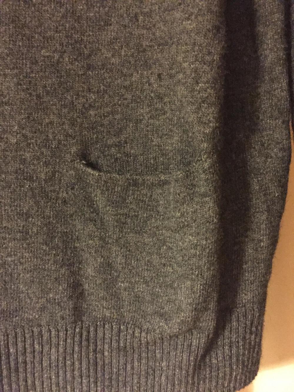 Свитер темно серый шведской марки Lindex на размер S-M.