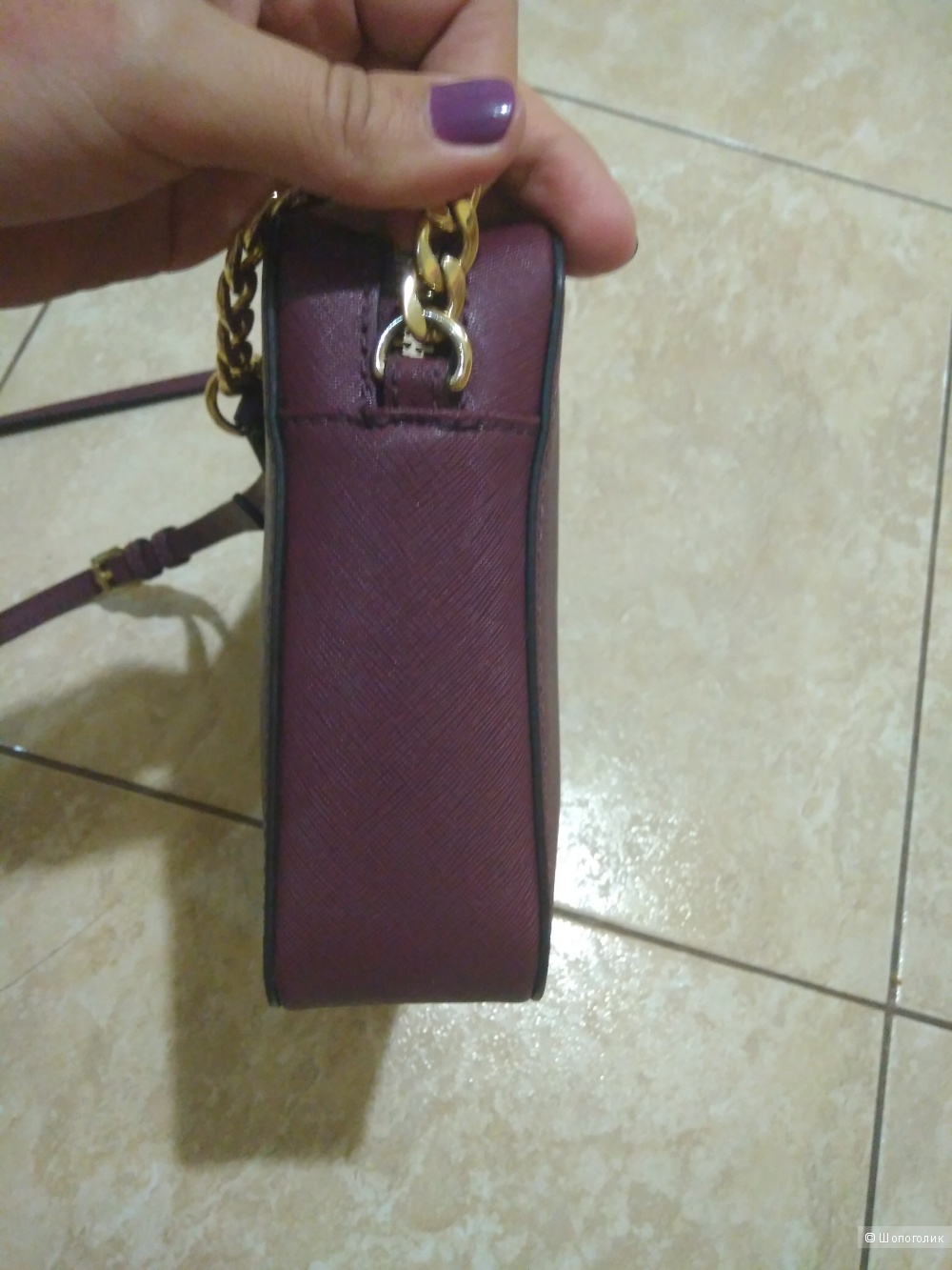 Сумка Michael kors crossbody Jet set large в цвете марсала - оригинал