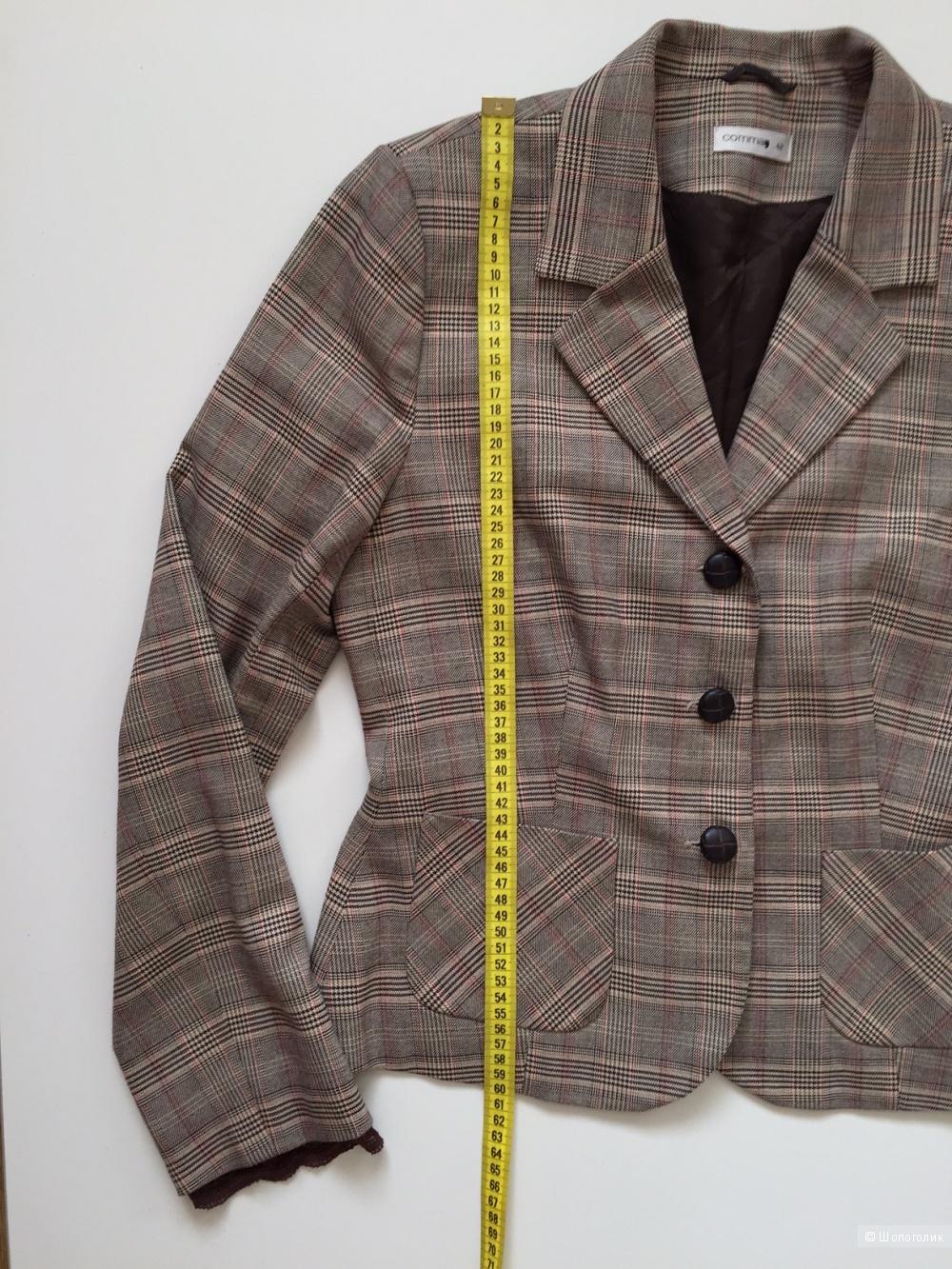Модный жакет песочного цвета в клетку марки COMMA размер 48-50