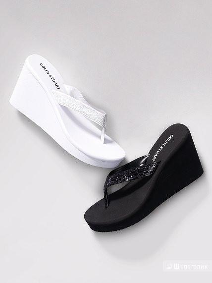 Новые пляжные шлепанцы на танкетке с сайта Victoria's Secret р.36