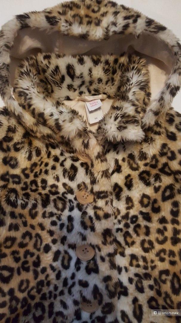 Меховое пальто (жакет) на девочку Palomino на 80-92 см