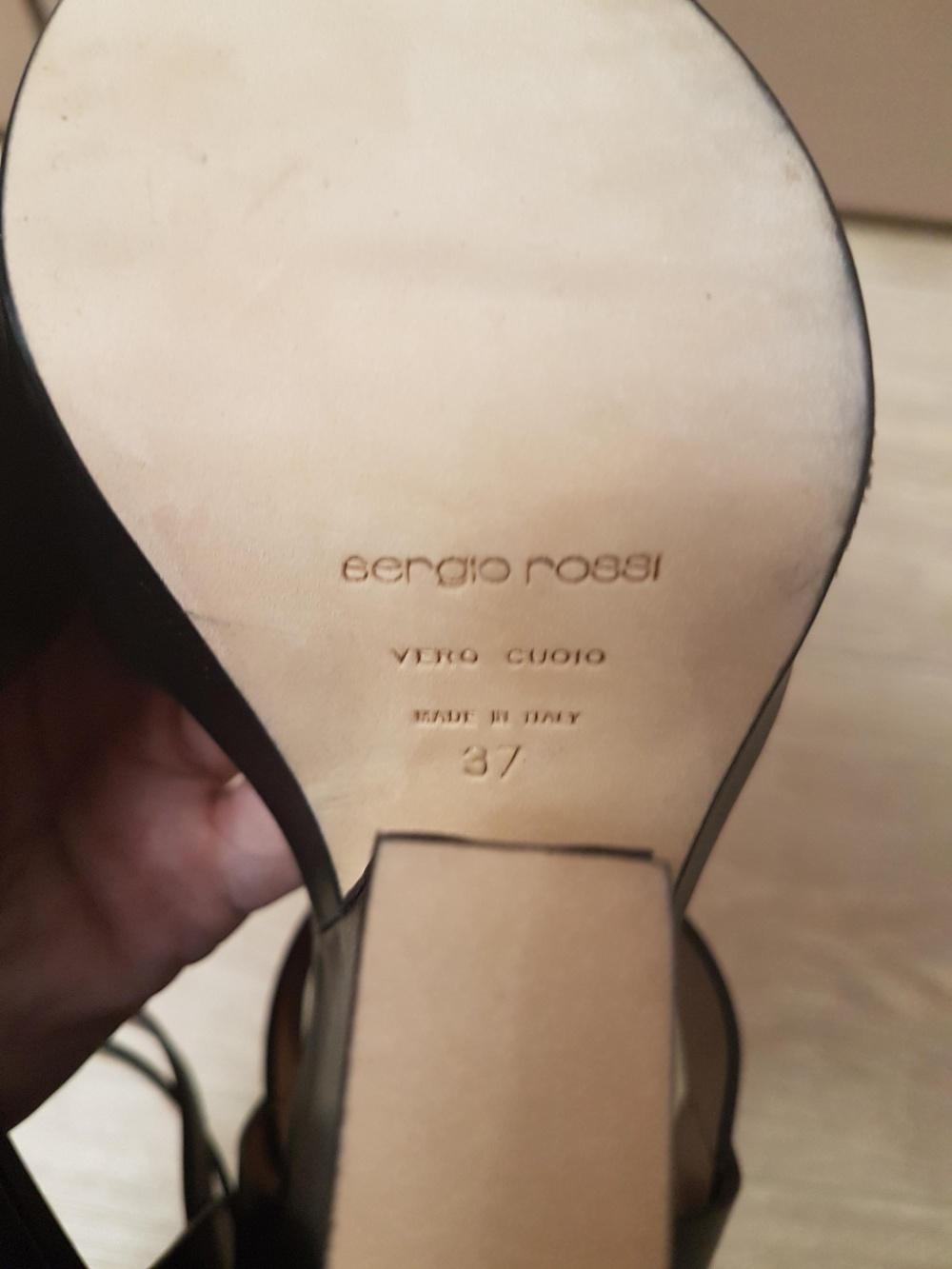 Стильные босоножки Sergio Rossi, размер 37