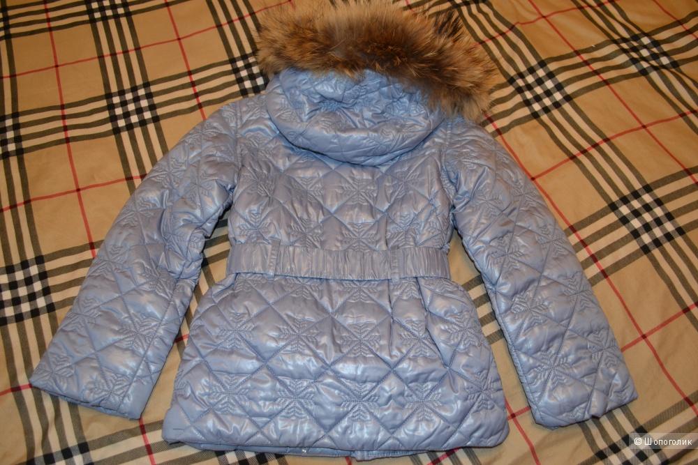 Новая куртка Aviva с натуральным мехом, р. 6А, демисезон.