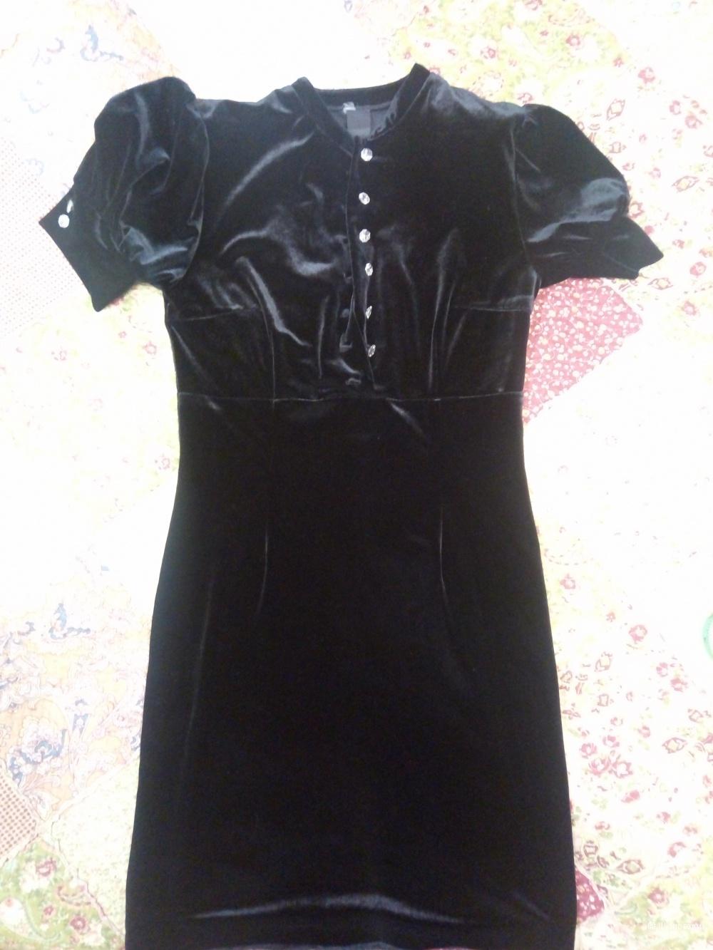 Бархатное платье 44-46 размер