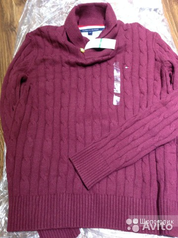 Tommy Hilfiger теплый свитер Новый р.L