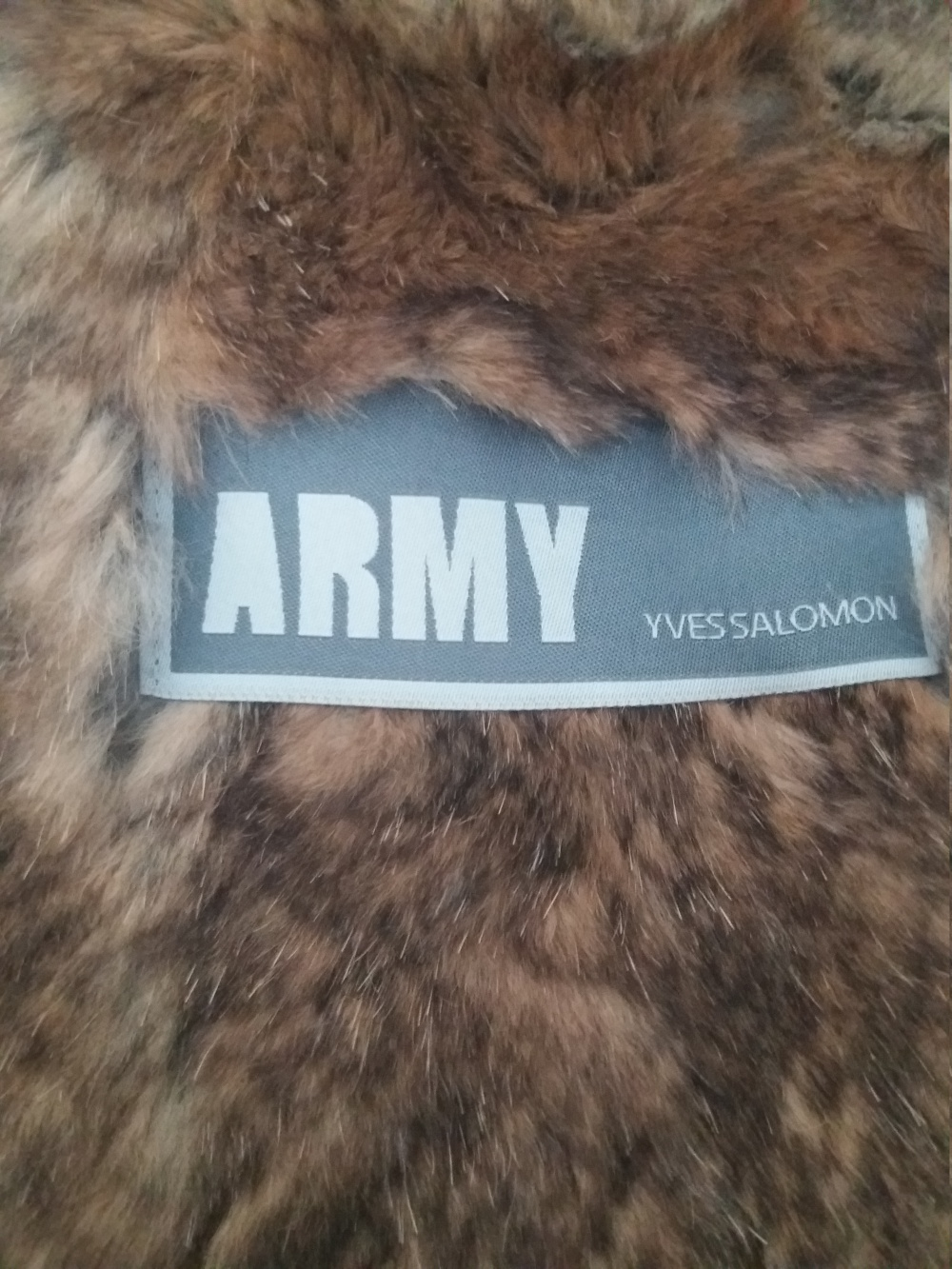 Парка-шуба Army Yves Salomon,размер(S-M-L).