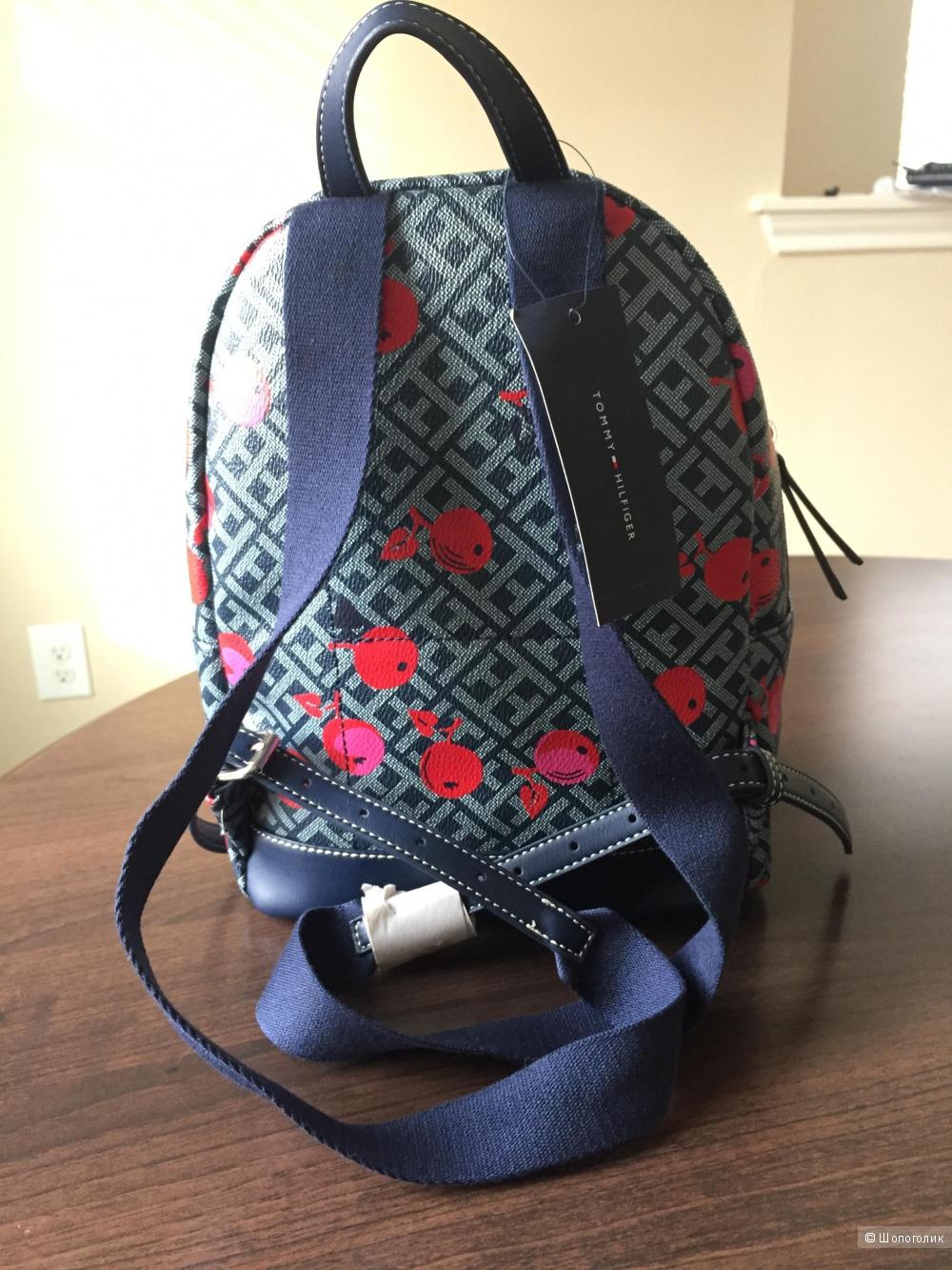 Оригинальный маленький рюкзак Tommy Hilfiger Вишня из США