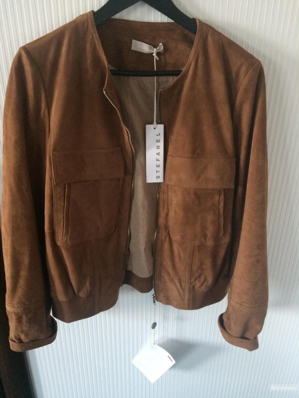Stefanel куртка кожаная (замшевая) 44