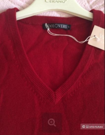 Женский пуловер из кашемира и шерсти мериноса WoolOvers р. S