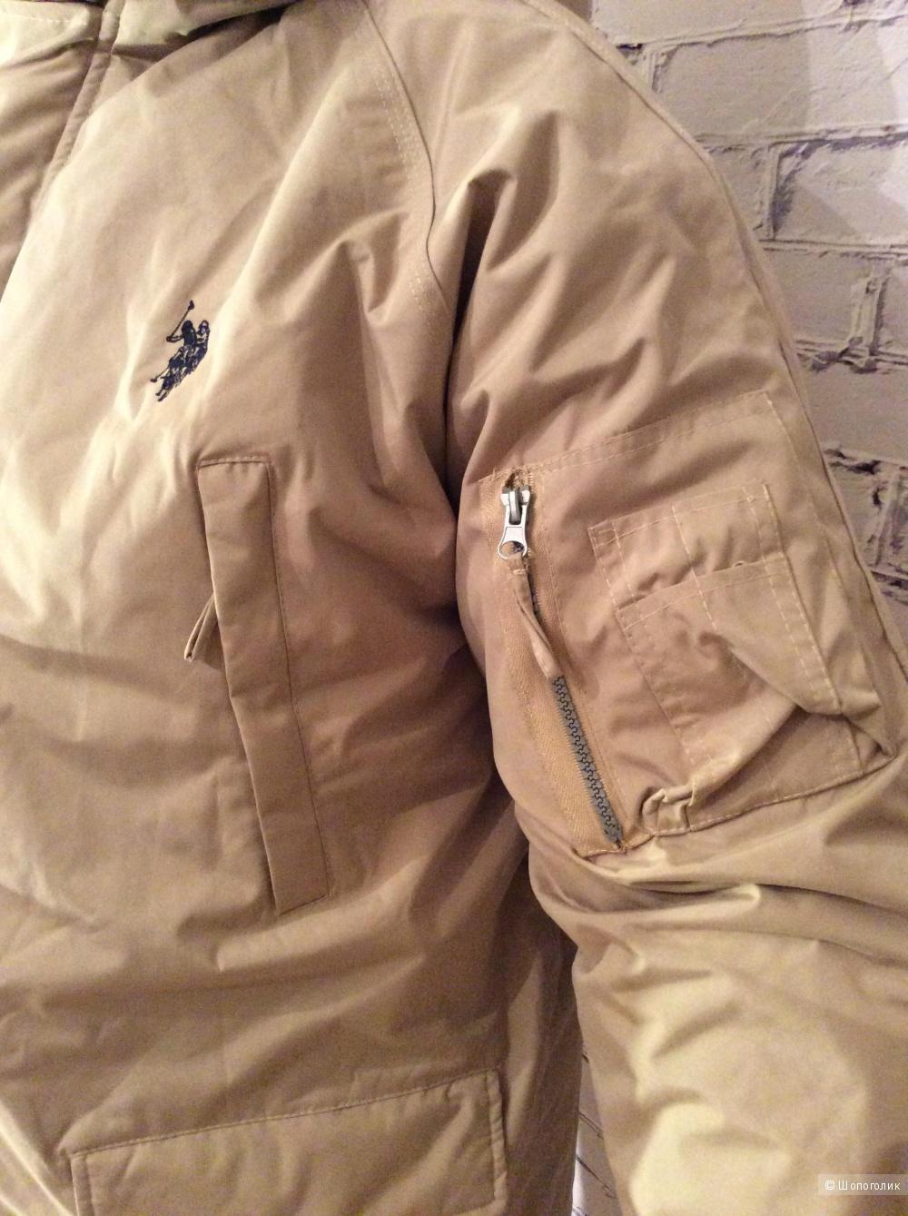 Пуховик новый Polo assn. Размер 54-56