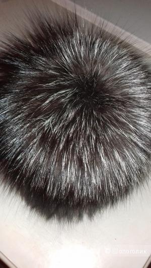 Меховая шапка из чернобурки, размер универсальный