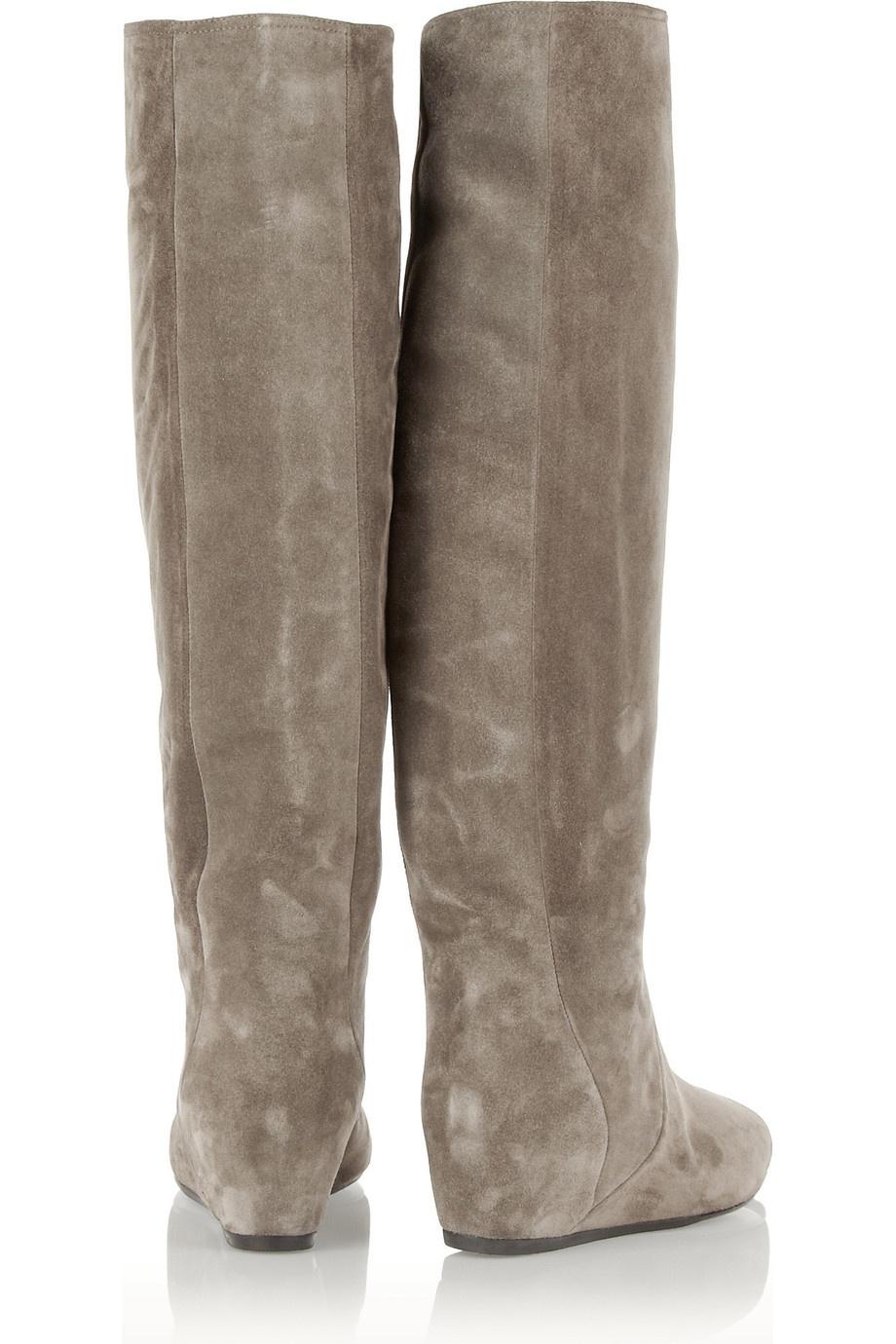 Замшевые сапоги Lanvin, размер 38,5, пр-во Италия