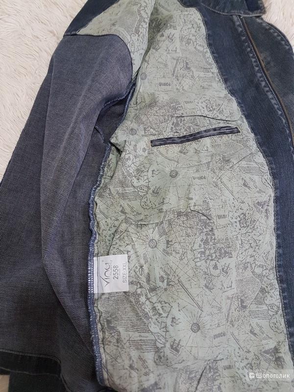 Мужская джинсовая куртка, XXL, 54-56 р.