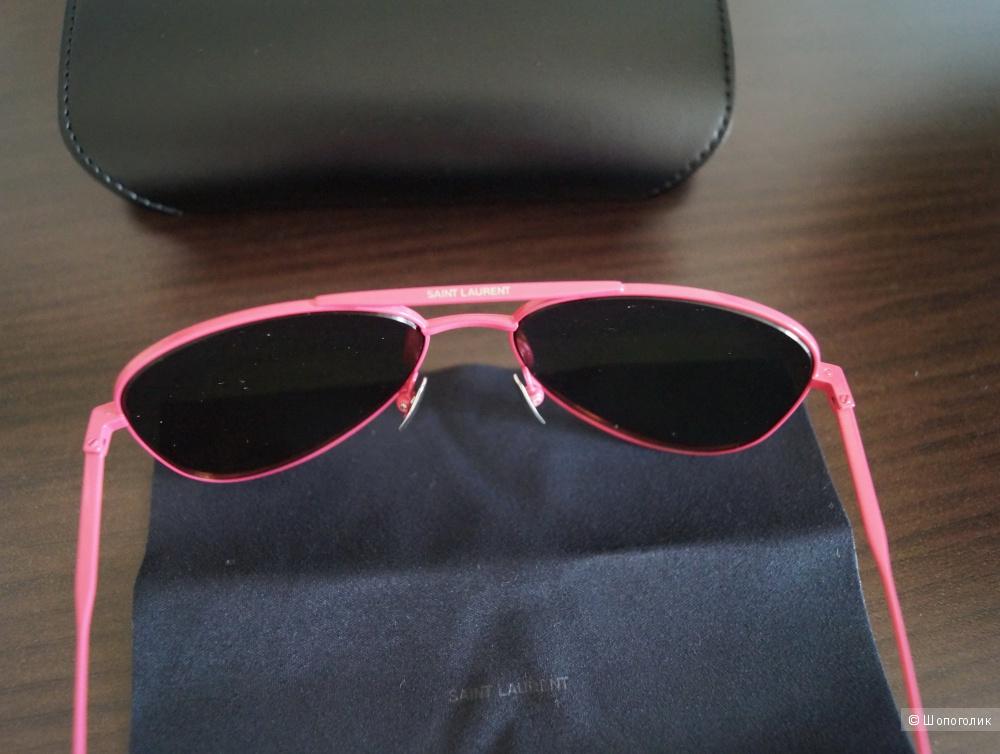 Солнцезащитные очки Saint Laurent зеркалки YSL Авиаторы