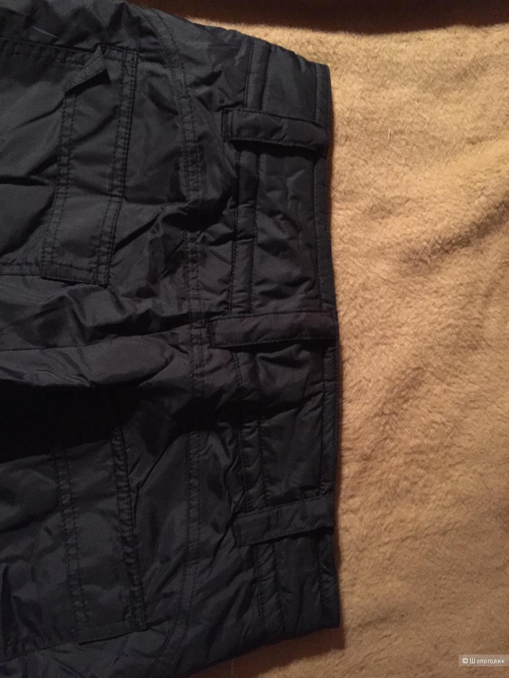 Лыжные утепленные зимние спортивные черные  брюки Nike.