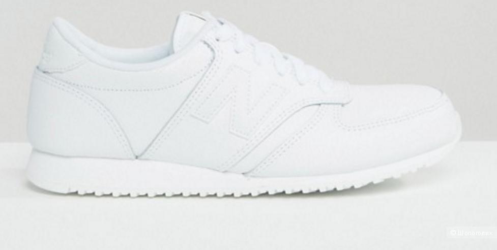 Мужские кроссовки New Balance 420, белые, нат. кожа. Размер 9,5US/9UK/43EUR, 27,5 см по стельке