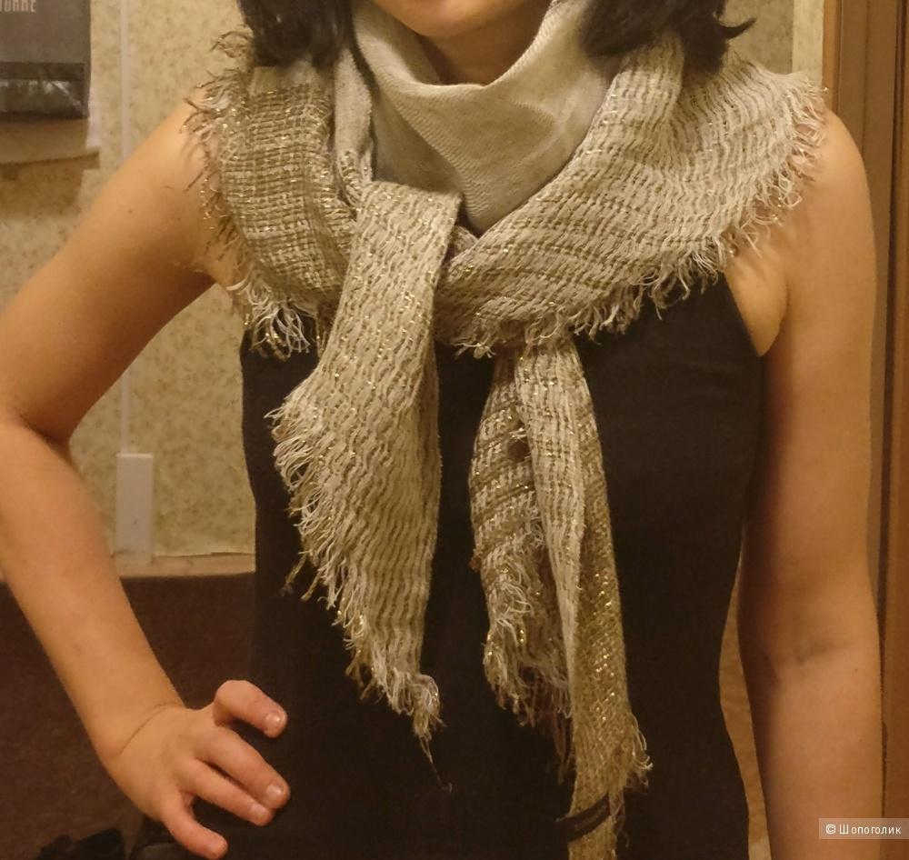 Льняной шарф tj collection