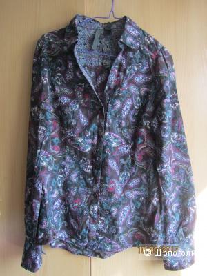 Хлопковая рубашка MANGO р.42-44