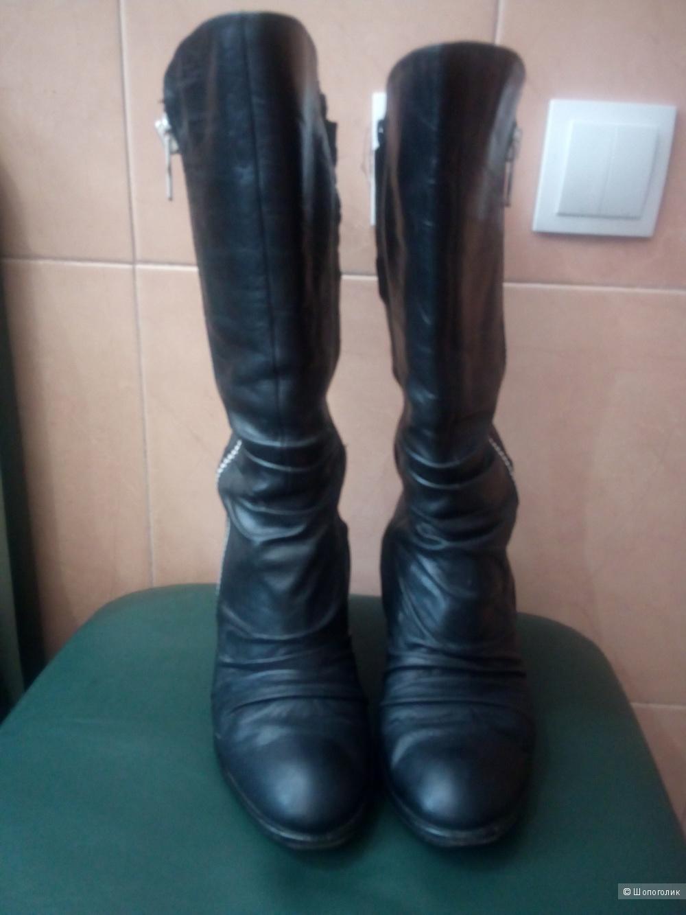 Сапоги кожаные Luca Stefani 37 размер
